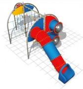 Structure de jeux 4 murs d'escalade - Dimensions (L x P x H) cm : 756 x 323 x 300