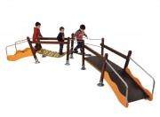 Structure de jeux double pont - Dimensions (L x P x H) mm : 2970 x 4500 x 925