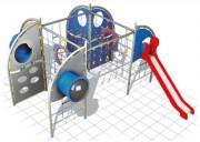 Structure multi-activités pour aires de jeux - Dimensions (L x P x H) cm : 783 x 575 x 300