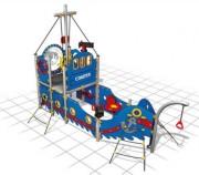 Structure multi-jeux - Dimensions (L x P x H) cm : 446 x 214 x 299