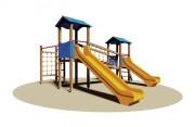 Structure multi-jeux en plein air enfants - Dimensions (L x P x H) cm : 550 x 485 x 315