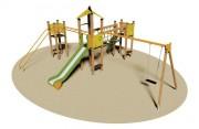 Structure multi-jeux enfants - Dimensions (L x P x H) cm : 590 x 780 x 350