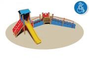 Structure multi jeux pour enfants handicapés