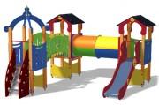 Structure multi jeux pour jardin public