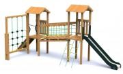 Structure multifonction escalade - Norme EN 1176 / 3 à 12 ans