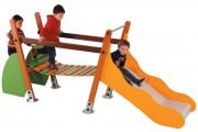 Structure multijeux pour enfants - Âge : 18 mois à 7 ans - Conforme à la norme EN 1176