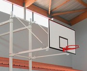 Structure murale pour panneau de basket - Déport sur-mesure - Hauteur fixe ou réglable