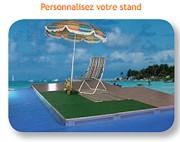 Structure pour plancher d'exposition - Dimensions planchers : 1 x 1m - Epaisseur : 22 mm