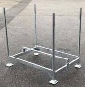 Structure stockage palette vauban - Capacité : 20 à 25 barrières - Charge admissible : 300 kg
