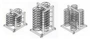 Structure support pour assiettes - Capacité : 17 ou 27 ou 36 assiettes