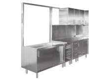 Structures et panneaux d'habillage 304 l - En inox AISI 304L - Longueur : de 900 à 1350 mm- Structures -  Panneaux d'habillage
