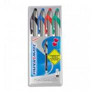 Stylo à bille Papermate Flexgrip Elite couleur - Pochette de 4 stylos - Papermate