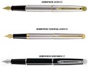 Stylo à plume personnalisé - Attributs plaqués or ou chromés ou en acier