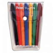 Stylo feutre pentel pointe nylon pochette de 7 stylos - Pentel