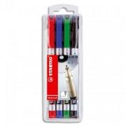 Stylo feutre stabilo pointe fine - Stabilo Pochette de 4 stylos