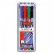 Stylo feutre stabilo pointe moyenne - Stabilo Pochette de 4 stylos