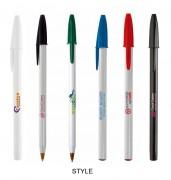 Stylos bille publicitaires - Zone d'impression (L x H) mm : 20 x 55 - 17 x 60 -  6 x 70