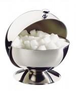 Sucrier de bar inox - Couvercle roll top - Poids: 0,27 kg - Diamètre: 13.5 cm - Hauteur: 15 cm