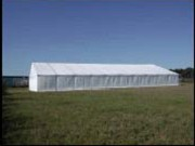 Supermarchés temporaires - Armature en aluminium - Dimensions ( L x h ) 30 x 4 m