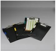 Support de fiches de score - Support plastifié avec pince pour fiche de minigolf