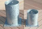 Support en acier galvanisé à fixer - Supports de rondins à fixer - Hauteur (cm)  : 15 - 20 - 25
