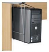 Support fixe pour l'unité centrale - Charge maxi : 30 kg – Finition gris aluminium.