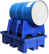 Support horizontal pour fût 200 litres - Fût de 200 litres ou deux fûts de 60 litres en milieu corrosif