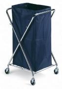 Support mobile pour sac poubelle 180 Litres - Dimensions porte sac (LxIxH)en cm :  62 x 60 x 103