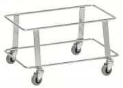 Support paniers à roulettes - Capacité : 50 Kg - Electro-galvanisé ou Noir