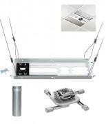 Support plafond pour vidéoprojecteur Longueur tube 76 mm - Longueur du tube : 76mm - Poids max 23kg