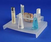Support plexi salle de bains - Hauteur : 5 cm - Dimensions (L x l) : 22 x 19 cm
