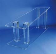 Support plexiglas cercueil - Dimensions (cm) : Largeur : 40  Longueur : 145 - Épaisseur : 1.5