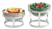 Support pour bol inox ou verre - 2 hauteurs au choix: 12 ou 18 cm -  Pour bols de 23 cm en diamètre