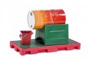 Support pour fût plastique - En polyéthylène - modèle pour 1 ou 2 fûts