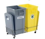 Support roulant pour conteneur à déchets - Dimensions (Lxlxh) mm : 370 x 340 x 185
