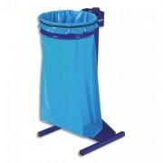 Support sac Ecollecto avec poteau sur socle à poser bleu - Rossignol