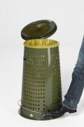 Support sac poubelle à pédale - Capacité (L) : de 60 à 120