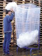 Support sac poubelle amovible - Tubulaire - Capacité: de grands volumes
