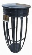 Support sac poubelle anti vent avec couvercle - Prévu pour des sacs-poubelle de 80 à 130 litres