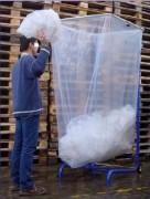 Support sac poubelle métallique grand volume - Conçu pour recevoir des sacs de 1500 litres