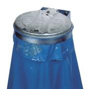 Support sac poubelle mural avec ou sans couvercle - Ouverture sac : Ø 350 mm