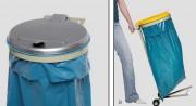 Support sac poubelle tri - Volume (L) : 120