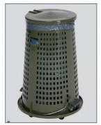Support sacs poubelle mini - Pour les sacs de 60/70 litres.