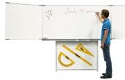 Support tableau triptyque blanc - Support pour tableau simple ou triptyque, socle autoporteur ou support mural