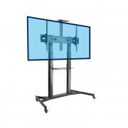 Support TV colonne mobile pour écran - Chariot professionnel pour écran 60-100 pouces