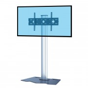 Support TV colonne pour écran 37 à 70 pouces - 3 modèles proposés : à base plate, à base fixe, à roulettes