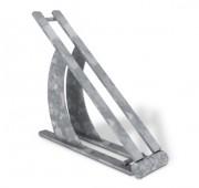 Support vélo acier - Encombrement (mm) : 560 x 135