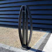Support vélo elliptique - Dimensions en mm (HxL) : 1000x250