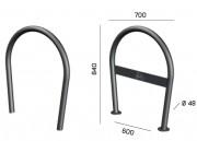 Support vélo rond - Encombrement (mm) : 700 x 840.