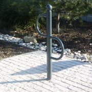 Support vélo tête boule à sceller - Diamètre (Ø) 33,7 x épaisseur 2,9 mm, cintré et soudé.